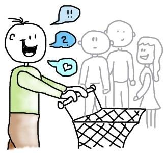Mit Leuten ins Gespräch kommen