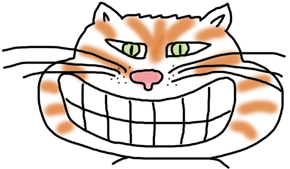 Grinsende Katze