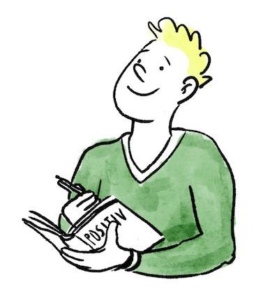 Voller Gelassenheit ins Bett gehen dank Positiv Tagebuch