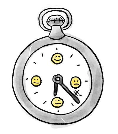 Verzögerungs Taktik gegen schlechte Emotionen