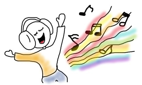 Lieblingsmusik und tanzen