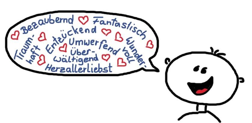 Achtsame Sprache - Emotional positive Wörter