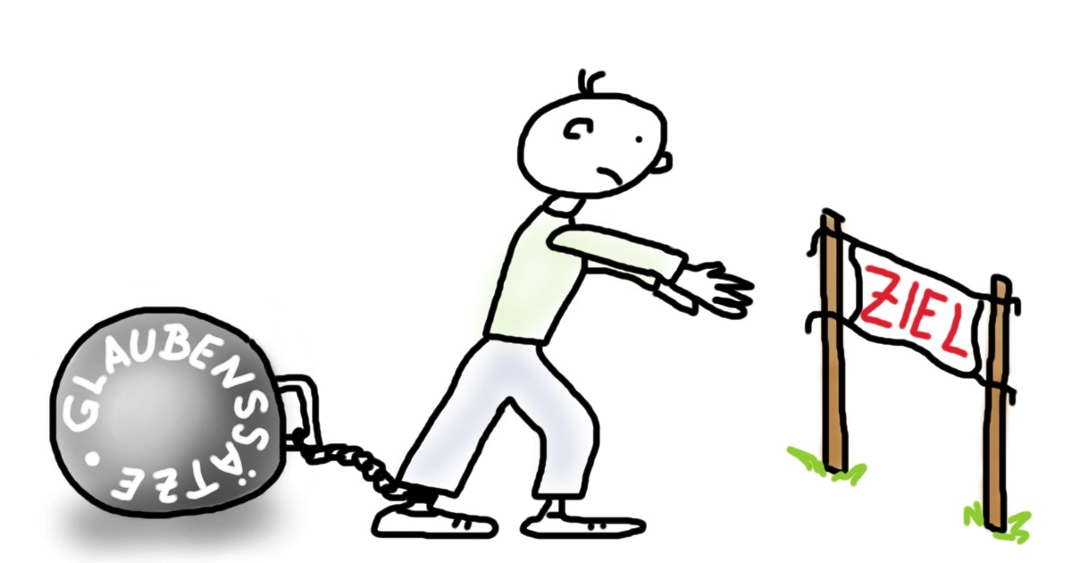 Eisenkugel am Bein, die verhindert, dass du deine Ziele erreichst