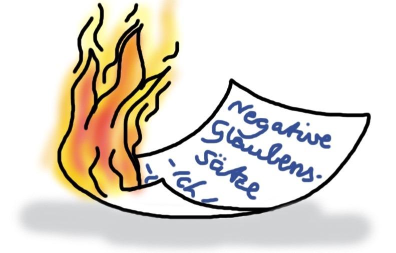 Negative Glaubenssätze aufschreiben und verbrennen