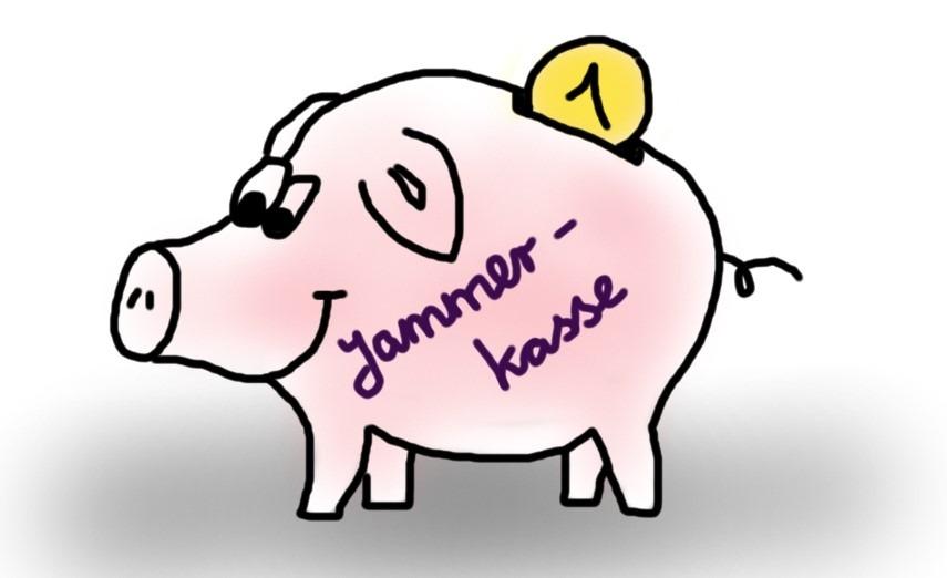 Sparschwein für Selbstmitleid