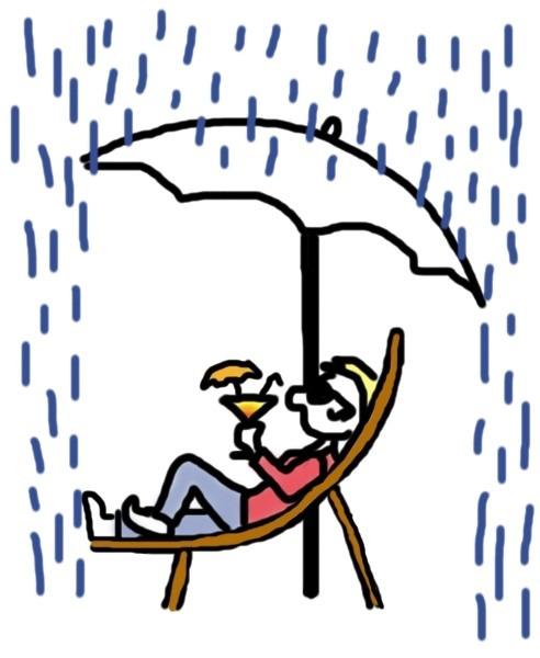 Das Leben genießen trotz Regen