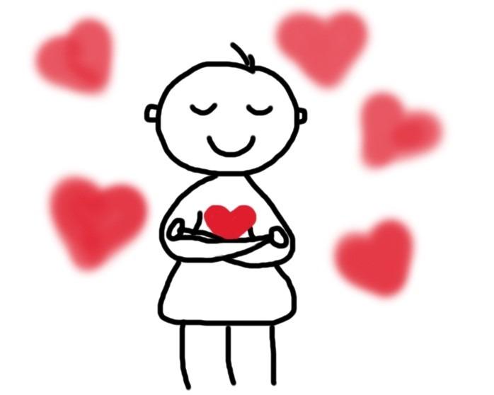 Selbstliebe _ Mensch mit vielen Herzen