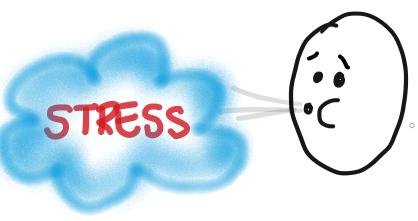 Männchen pustet Stress weg