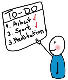 Meditation auf To-Do-Liste
