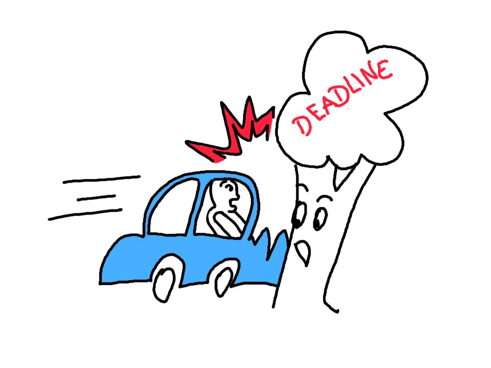 Knautschzone Auto am Baum